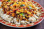 Thumbnail image for Cumin-Infused Vegetables and Chickpeas over Quinoa
