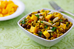 Thumbnail image for Curried Rice Salad with Black Chickpeas and Mango