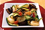 Thumbnail image for Gnocchi with Zucchini Ribbons and Portabella Mushrooms