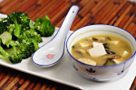 Thumbnail image for Double Mushroom Miso Soup and Sesame Broccoli
