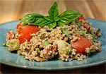 Thumbnail image for Basil and Bulgar Salad (aka Pesto Tabouli)