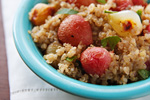 Quinoa with Roasted Radishes and Pearl Onions