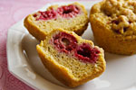 Thumbnail image for Gluten-Free Raspberry Corn Muffins