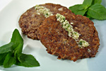Thumbnail image for Red Lentil and Rice Patties with Coconut-Mint Sauce