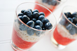 Strawberry-Blueberry Tapoica Parfaits