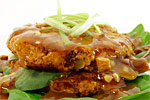 Thumbnail image for Shiitake, Sweet Potato and Zucchini Foo Yung