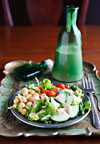 Low-Fat Tahini-Chickpea Salad Dressing