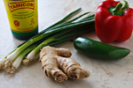 Tamarind, Green Onions, Ginger, Jalapeno, Red Pepper