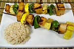 Thumbnail image for Teriyaki Tofu and Vegetable Kabobs
