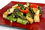 Thai Style Basil Tofu and Asparagus