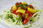 Thumbnail image for Zucchini Spirals with Fresh Vegetable Sauce