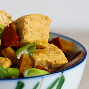 Tofu with Lobster Mushrooms