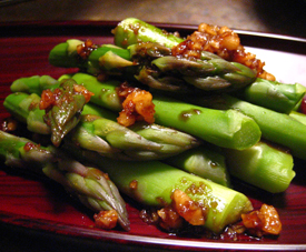 Asparagus with Walnut Dressing