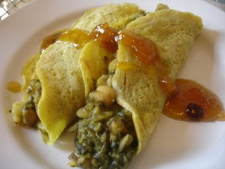 Curry Chickpea Crepes