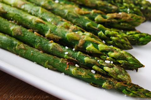 Wasabi-Roasted Asparagus