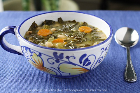 Collard Greens and White Bean Soup
