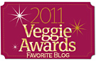VegNews Veggie Award 2011 for Readers' Favorite Blog
