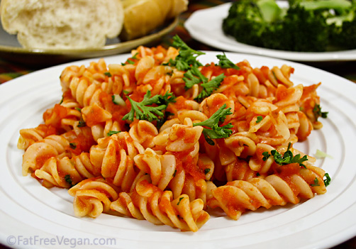 Pasta All Arrabbiata Recipe From Fatfree Vegan Kitchen