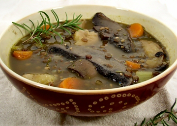 French Lentil and Portabella Stew