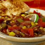 Chili with Baked Lime-Chipotle Tortilla Chips