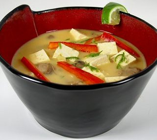 Thai Coconut Soup with Tofu and Mushrooms