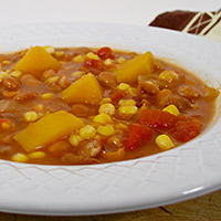 Spicy Winter Squash Stew with Pinto Beans and Corn