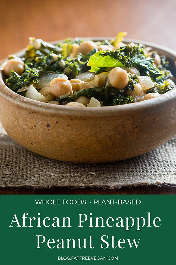 African Pineapple Peanut Stew: Pineapple, peanut butter, kale, and chickpeas? You will be amazed at how delicious such an odd-sounding combination can be! Vegan and naturally gluten-free. #vegan #wfpb