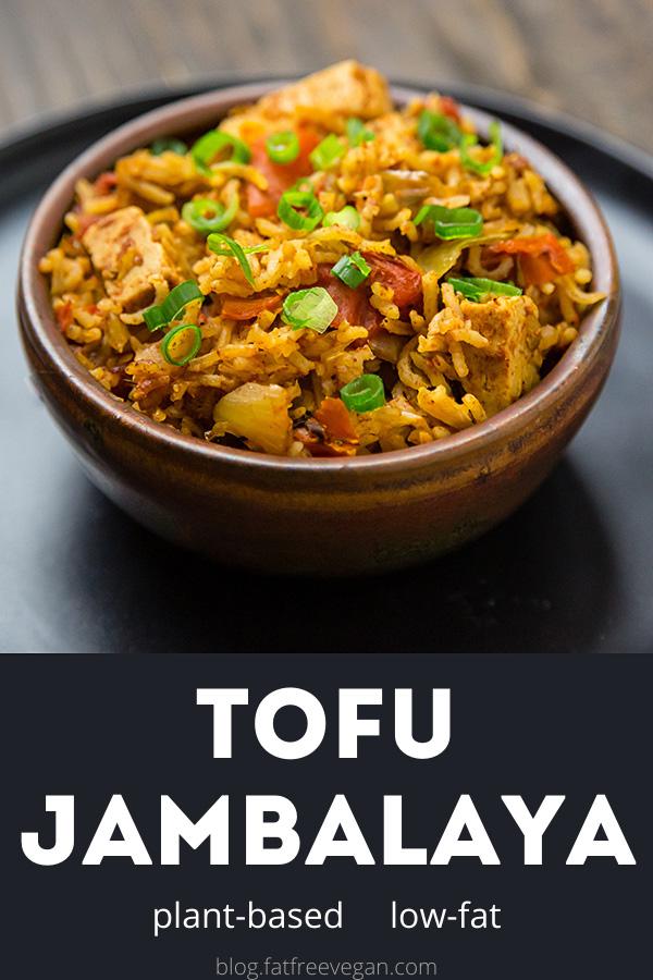 This vegan jambalaya is similar to paella or Spanish rice. Gluten-free and low-fat! #vegan #cajun #creole