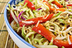 Thumbnail image for Bean Sprouts and Broccoli Slaw Salad with Coconut-Ginger Dressing