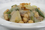 Thumbnail image for Chickpeas, Potatoes, and Green Beans in Cauliflower Sauce