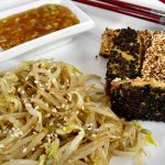 Yin & Yang Tofu with Bean Sprouts Salad