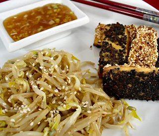 Yin & Yang Tofu with Bean Sprouts Salad