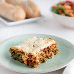 Easy Vegan Spinach and Mushroom Lasagna--My Favorite Lasagna