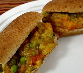 Pav Bhaji (Spicy Mixed Vegetables on Buns)