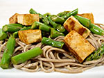 Thumbnail image for Somen with Tofu and Asparagus in a Chinese Dressing