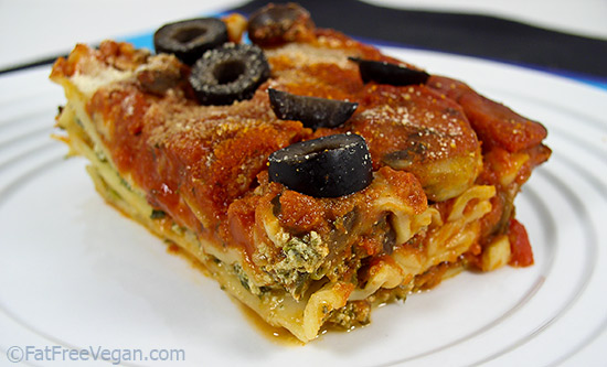 Easy Vegan Spinach and Mushroom Lasagna
