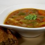 Provençal Soupe au Pistou (Bean and Vegetable Soup with Pinenut Pesto)