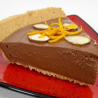 Chocolate a l'Orange Mousse Pie - Vegan