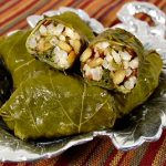 Grape Leaves Stuffed with Lentils and Rice