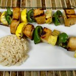 Teriyaki Tofu and Vegetable Kabobs
