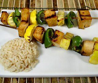 Teriyaki Tofu and Vegetable Kabobs