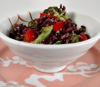 Broccoli Rice Salad with Sesame-Ginger Dressing