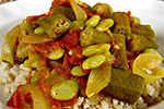 Thumbnail image for Okra and Lima Bean Masala