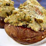 Portabellas Stuffed with Pesto-Mashed Potatoes