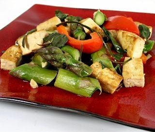 Thai-Style Basil Tofu and Asparagus