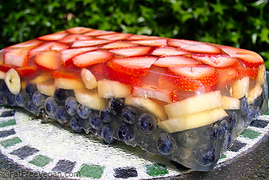 Red White and Blue Fruit Terrine