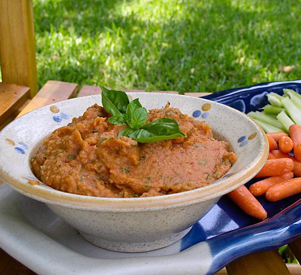 Roasted Tomato Bean Dip