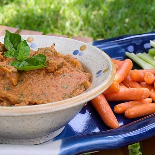 Roasted Tomato Bean Dip (Tomato Hummus)