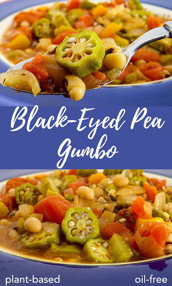 Black-eyed Pea Gumbo: This richly seasoned gumbo contains no animal products, yet it's full of Creole flavor. #vegan #oilfree #wfpb