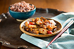 Thumbnail image for Eggplant and Tofu in Spicy Garlic Sauce